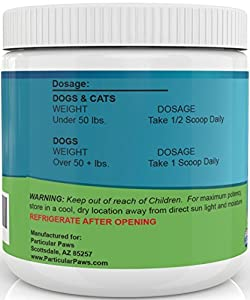 Probiotics for Dogs and Cats - Powder for Digestion, Diarrhea Relief, Regularity, Promotes Immune System and Digestive Health - 8 oz by Particular Paws