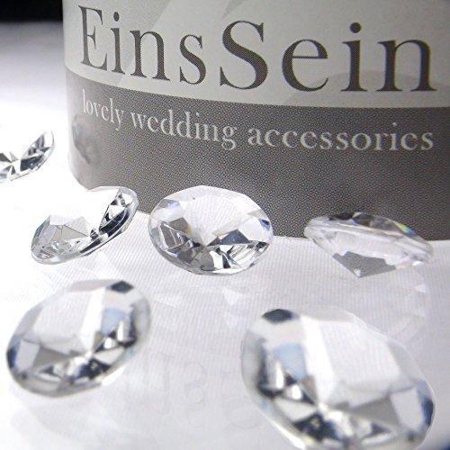 100x-FUNKELNDE-Diamantkristalle-12mm-klar-EinsSein-Dekoration-Dekosteine-Diamanten-FUNKELNDE-Diamantkristalle-Streudeko-Konfetti-Tischdeko-Hochzeit