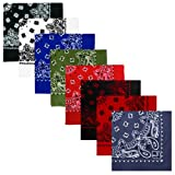 Army/Military Solid, Paisley & Camouflage Bandanas (100% Cotton)