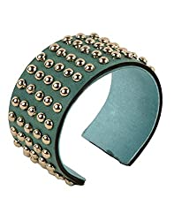 Tiekart Green Embelished Women Bracelet/Cuffs