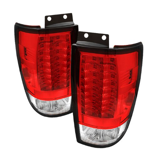 Spyder Ford Expedition 97-02 Version 2 Led Tail Lights - Red Clear
