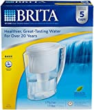 Brita Slim Water Pitcher with 1 Filter, White, 5 Cup