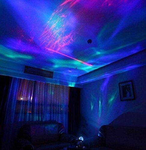 Ohuhu® Lampada Proiettore Disegno Realistico di Aurora Stella Boreale e Built-in Altoparlante Musicale