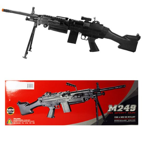 M249 Machine Gun Spring Airsoft 1:1 Bipod Rifle