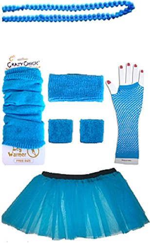 Neon Tutu, Gloves, Legwarmers, Headband, Wristbands. Size 16-22