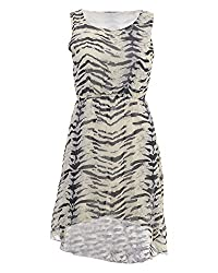 Desi Panache Girls' Cocktail Dress (Cream, Medium)
