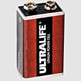 "Ultralife U9VL 9 Volt Lithium Block Batterie 6AM6 9,0Volt 1.200mAh - 1 St�ckvon ""Ultralife"""