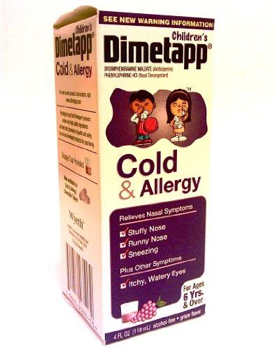 Dimetapp Children's Cold And Allergy Syrup Grape -- 4 fl oz (Dimetapp Grape compare prices)