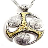 Ancient Triskilian Celtic Isle of Man Symbol Nordic Pendant Necklace