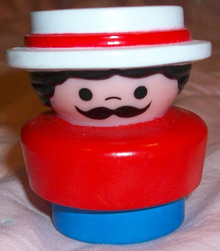 Buy Low Price Mattel Fisher Price Little People Vintage Man with Hat Replacement Figure Doll Toy (B0025JWPDE)