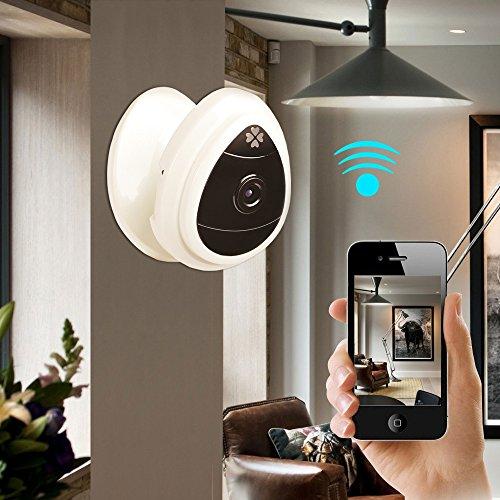 IP Kamera, 720P Heimüberwachungskamera Funkkamera Eingebaut Errichtet im Mikrofon mit einem Schlüssel WI-Fi Configuration App, Bewegungserkennung, Remote Viewing-Funktion