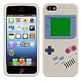 kwmobile シリコンケース ゲームボーイデザイン Apple iPhone SE / 5 / 5S用 - スタイリッシュなデザインと最適な保護