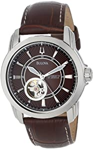 Bulova Men's 96A108 Automatic Mechanical Strap Brown Dial Watch by Bulova
