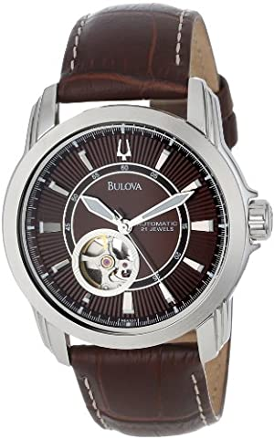 Bulova Men's 96A108 Stainless Steel and Brown Leather Automatic Mechanical