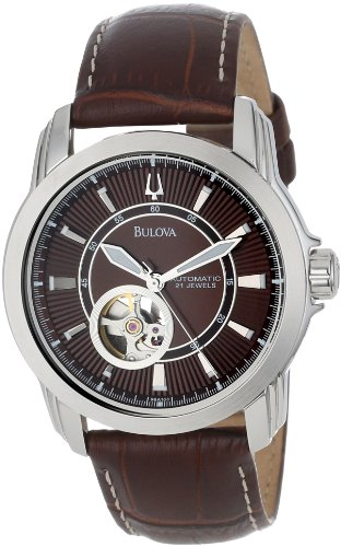 Bulova Men's 96A108 Automatic Mechanical Strap Brown Dial Watch Picture