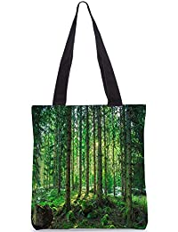 Snoogg Tall Tress With No Leaves Digitally Printed Utility Tote Bag Handbag Made Of Poly Canvas