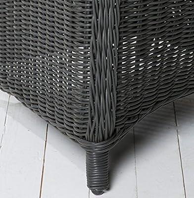 6x Hochwertiger Polyrattan Gartenstuhl Sessel Rattan Stuhl Gartenstühle Gartenmöbel Gartensessel Loungesessel Relaxsessel Positiosstuhl Gartenstühle Balkonstuhl