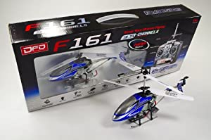 DFD F161 35cm 3.5ch Radio Control Metal 3.5ch Rc Helicopter Gyro Flashing Red or Blue