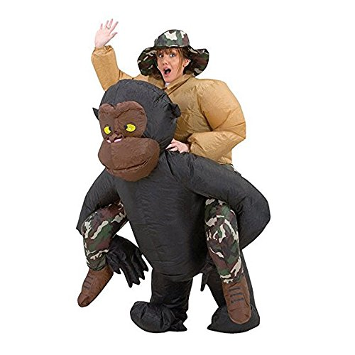 TOLOCO Inflatable Adult Riding Gorilla Halloween Costume
