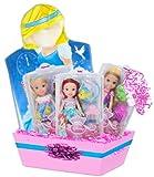 Disney Petite Princess Christmas Gift Basket Featuring Disney Princess Petite Doll Set (ALL 3!), Ages: 3-8