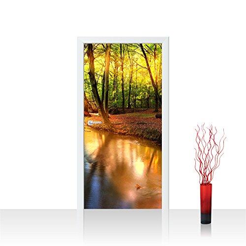 Liwwing TTVLPP-0252-100X211 - Porta carta da parati in pile 100 x 211 centimetri - top! carta da parati foto premium plus porta! poster formato porta xxl pannelli porta foto photo porta carta da parati poster folie photowallpaper deco alberi della foresta, la natura - non 252nd