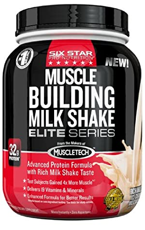 Six Star Pro Nutrition Elite Series  Muscle Building Milkshake 2lb Rich