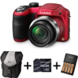 Panasonic Lumix LZ20 Bridge Camera - Red + Case + 16GB Memory Card + AA Battery and Charger (16.1MP, 21x Optical Zoom) 3 inch LCD