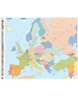 Carte Plastifie Roule Europe