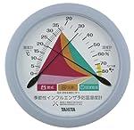 【季節性インフルエンザ予防にも】 TANITA アナログ式 温湿度計 大型 (掛け式) ブルー TT-548-BL