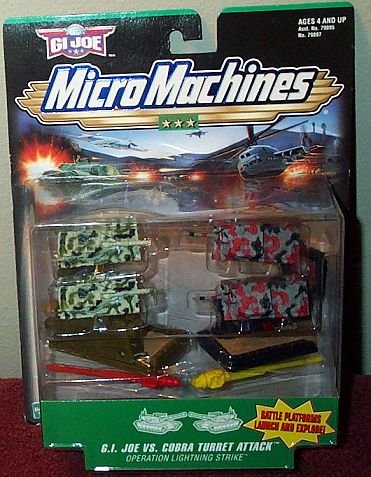 Picture of Galoob G.I. Joe Micro Machines Joe vs. Cobra Turret Attack Set Figure (B000N6KW4A) (G.I. Joe Action Figures)