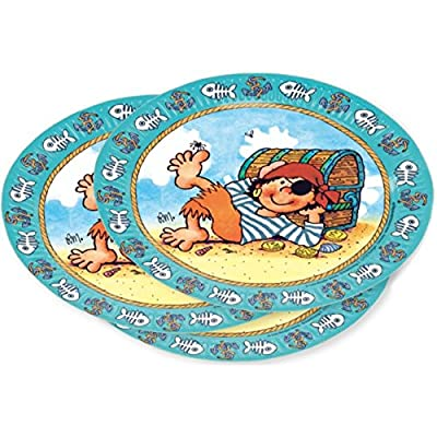 11172 Lutz Mauder Party Plates With Fire Pit Planke 8-piece by Lutz Mauder