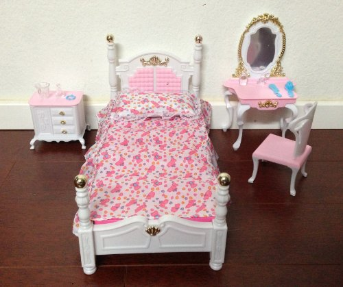 Barbie Size Dollhouse Furniture Bed Room Beauty Play