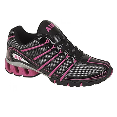 Dek Lady Air Raid Womens Shock Absorbing Running Trainers (7 UK, black/fuschia)
