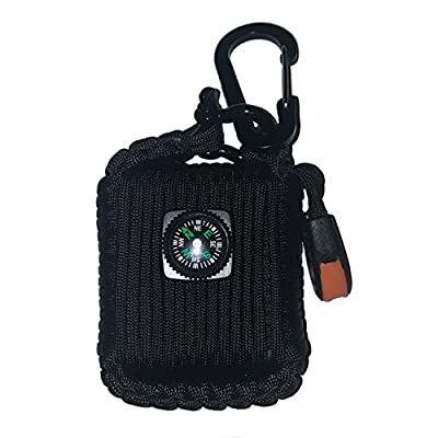 DURO GEAR Paracord Grenade Emergency Survival Kit - Fishing Hiking Camping Fire Starter - 26 in 1 Tools