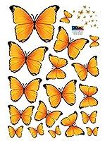 Ambiance Live Vinilo Decorativo 18 Piezas Yellow Butterflies Amarillo