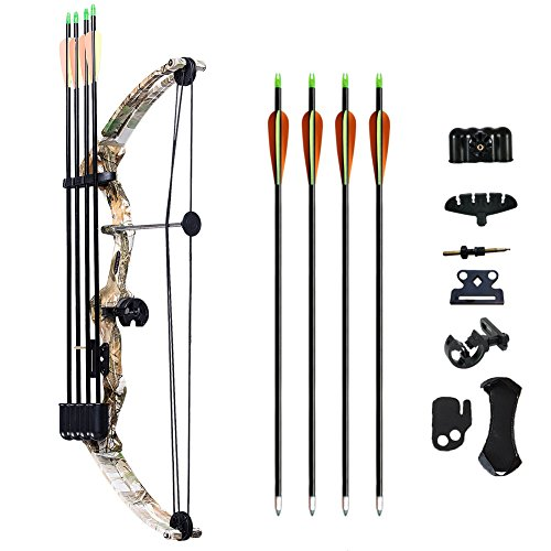 ATROPOS-110-Archery-Youth-Compound-Bow-Right-Handed-Bow-Kit15-20lbs-Draw-Weight