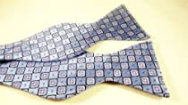 Marlon Garci 100% Silk Purple and Blue Print Self-tie Bow Tie