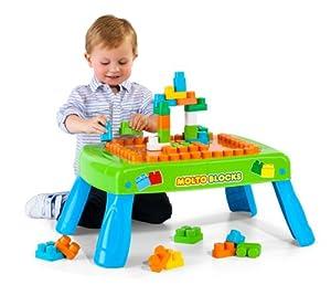Molto 14480 - Mesa con bloques, 20 piezas, color azul y verde marca MOLTO