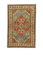 L'EDEN DEL TAPPETO Alfombra Uzebekistan Super Beige/Multicolor 95 x 146 cm