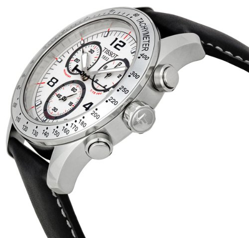 Tissot Men's T0394171603700 V8 Chronograph White Chronograph Dial Watch