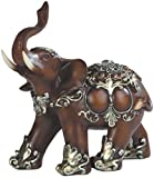"George S. Chen Imports SS-G-88098 Thai Elephant Wood Like Design Figurine, 6"""