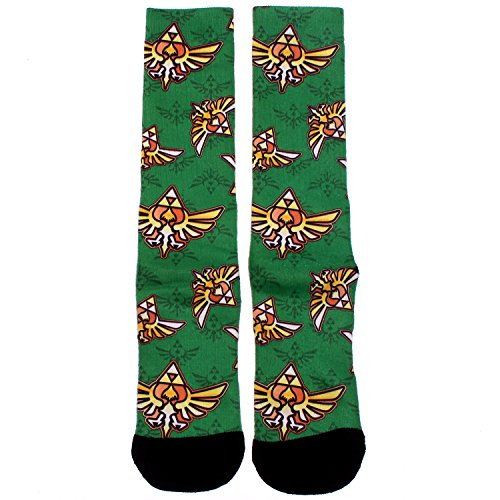 Legend of Zelda Triforce Crest All Over Print Socks