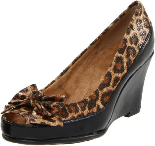 Aerosoles Women's Well Wisher Pump,Leopard Combo,9 M US
