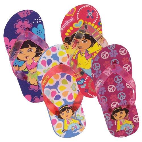 Cheap Dora the Explorer Toddler Girls Flip Flops / Thongs Sandals Pink, Fuschia & Blue (B004SH2G9E)
