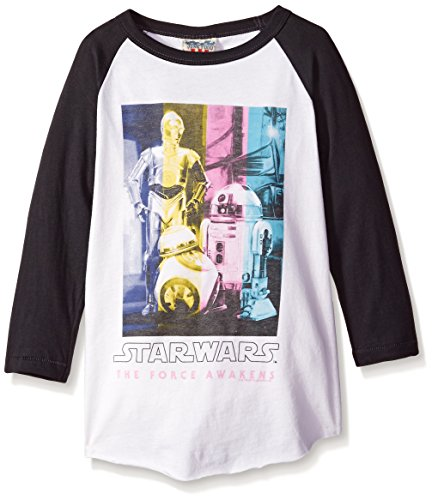junk-food-womens-star-wars-ep-7-droids-in-technicolor-girls-raglan-shirt-x-large