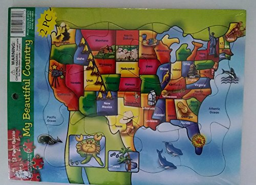 2 12 Piece Tray Puzzles- My Beautiful Country and My Wonderful World - 1