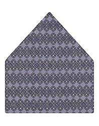 Tiekart Self Design Micro Fibre Pocket Square (Ps278_Grey)