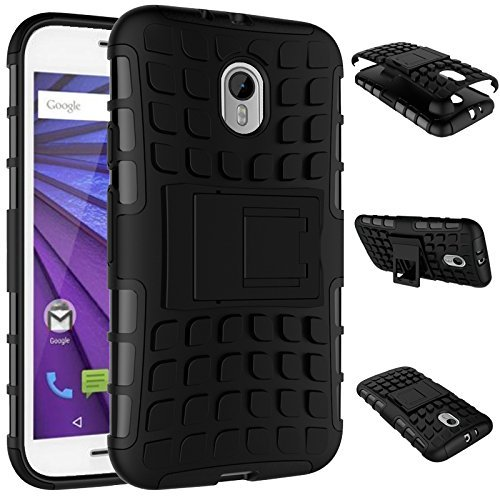 pretty nice 6f9ee e954a Chevron Hybrid Dual Armor Kick Stand Back Cover Case for Moto G 3rd  Generation / Moto G Turbo (Black) Buy Chevron Hybrid Dual Armor Kick Stand  Back ...
