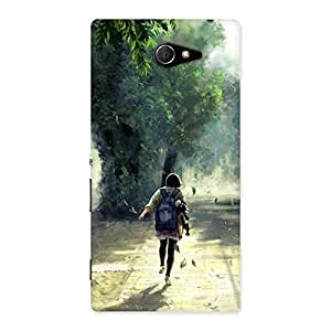 Special Back To Home Back Case Cover for Sony Xperia M2