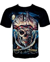 Rock Chang T-Shirt Pirate Skull (Glow In The Dark) GR 411